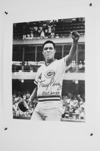 Autographed Tony Perez photo.