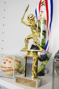 Little League baseball trophy.